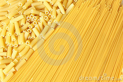 Background made from pasta