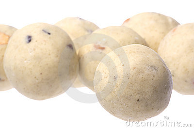Indian Ghee Balls Isolated