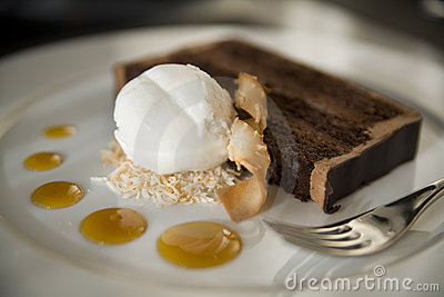 Chocolate Cake and Coconut Ice Cream