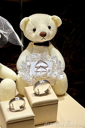 Engagement rings with soft toy
