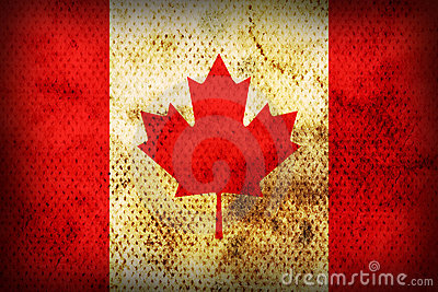 Weathered flag of Canada