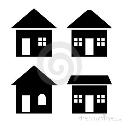 House icons set (VECTOR)