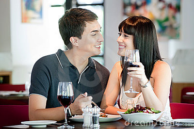 Couple Dining Together