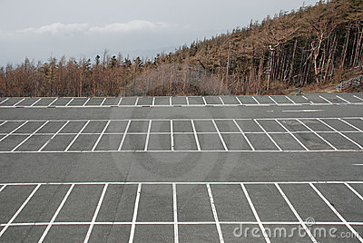Empty Car Park at Fuji