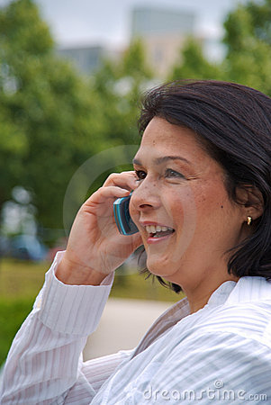 Close up of businesswoman with phone