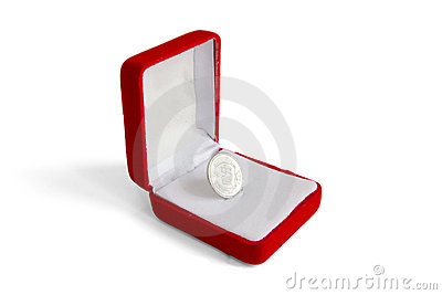 Chinese Coin in a Box