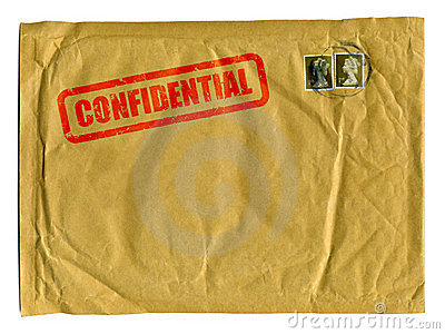 Large brown envelope with Confidential stamp