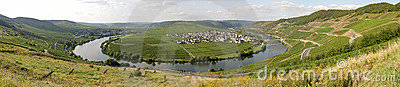 Panorama of the river Moselle in Germany