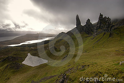 Old man of Storr in Scotland