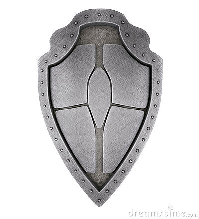 Medieval brushed shield
