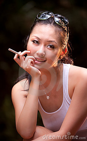 Glamour smoking girl 2