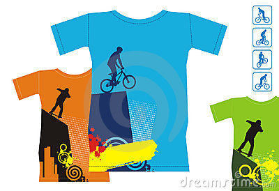 T-shirts with extreme sports 3