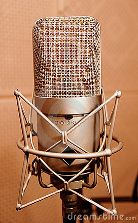 Microphone in a sound enclosure booth