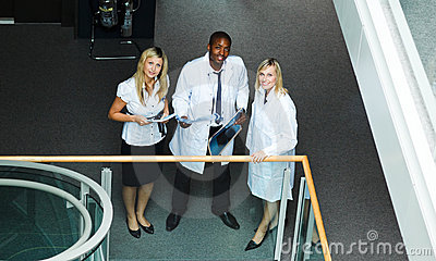 High view of a group of doctors