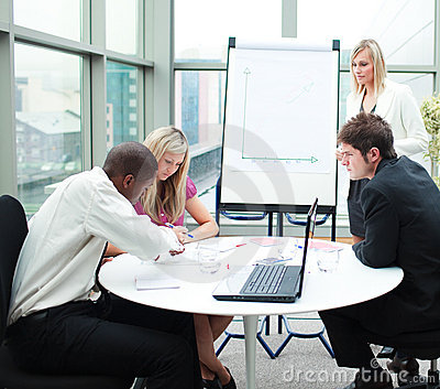 Business people working together in a meeting