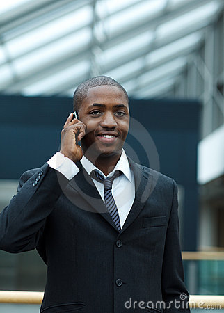 Ethnic businessman on phone