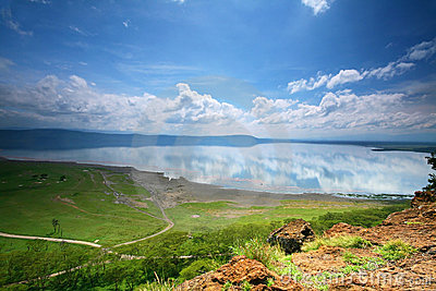 Peaceful view on the lake Nakuru