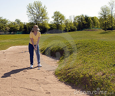 Lady Golfer Penalty Stroke