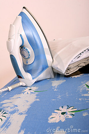 Ironing at home