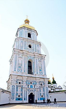 Bell tower Sofia cathedral in Kiev, Ukraine