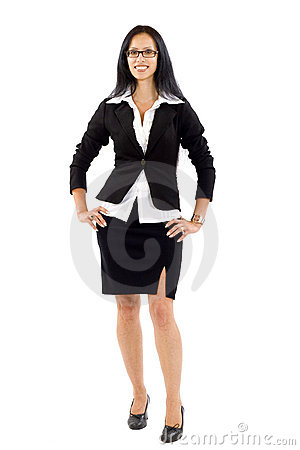 Attractive businesswoman standing