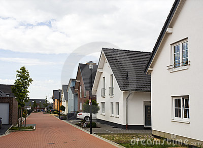 Suburban street in Germany
