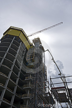 Skyscraper construction site