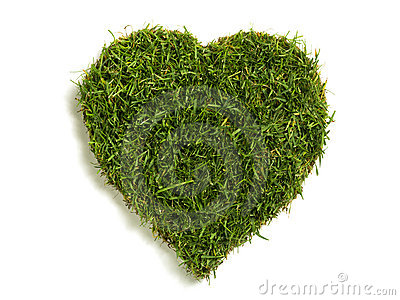 Heart shaped lawn sod