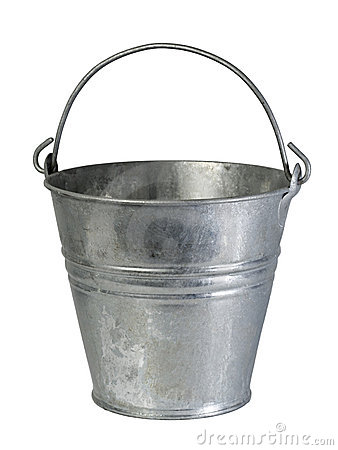 Old tin bucket