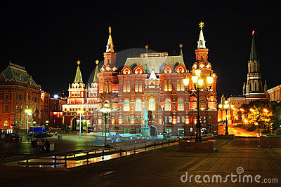 Moscow at night