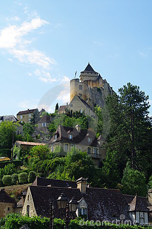 Castelnau castle in Dordogne france