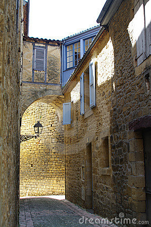Medieval street in Sarlat France