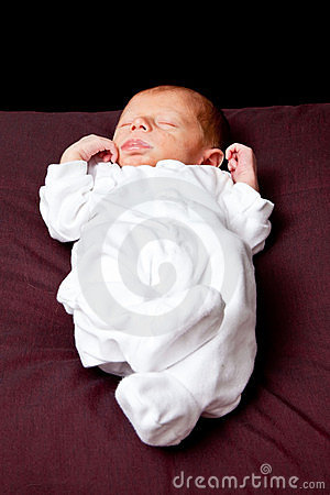Newborn baby boy sleeping