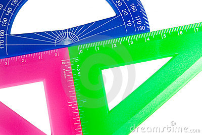 Rulers and a protractor