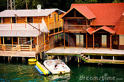 Houses on river