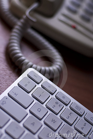 Telephone and computer keyboard
