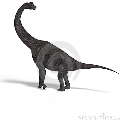 Giant dinosaur brachiosaurus With Clipping Path