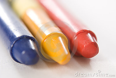 Blue Yellow Red Crayon