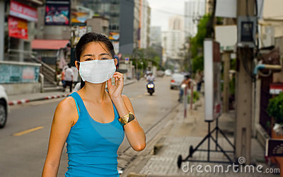 Face mask in bangkok