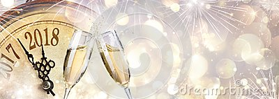 New Year 2018 - Toast With Champagne