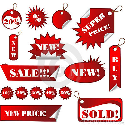 Stickers and Sales Tags