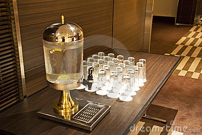 Water Dispenser and Glasses