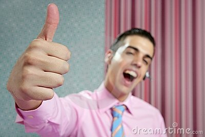 Businessman young with okay hand sign
