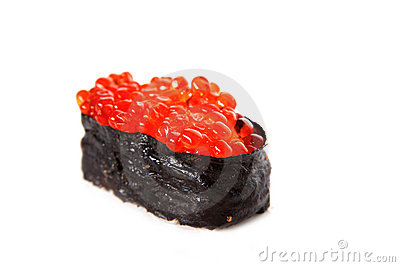 Traditional red roe sushi
