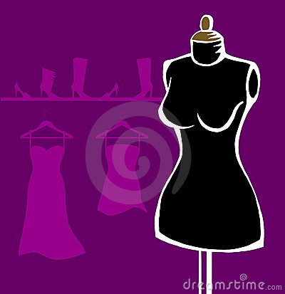 Mannequin over violet background