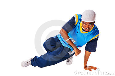 Hip-hop young man making cool move
