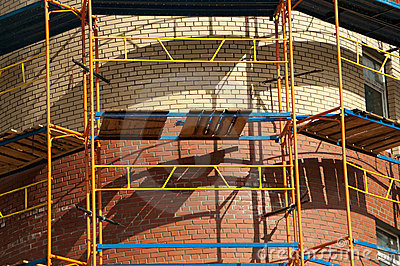 Brick Building Under Construction