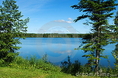Idyllic lake in Gaspesie