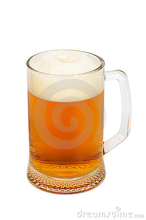 Mug with a fresh beer