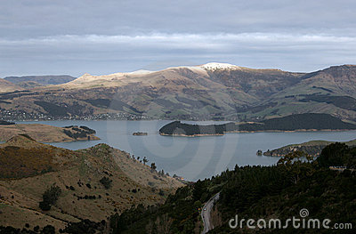 Picture from the Port Hills in New Zealand